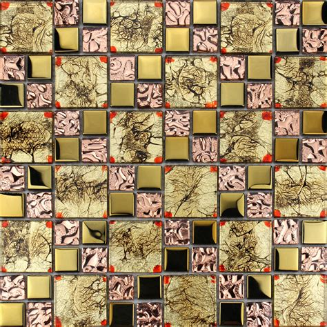 gold glass tile pink glass mosaic tiles glass tile