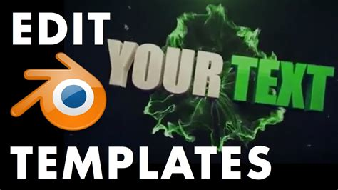 edit blender intro template how to edit blender intro templates the ultimate video