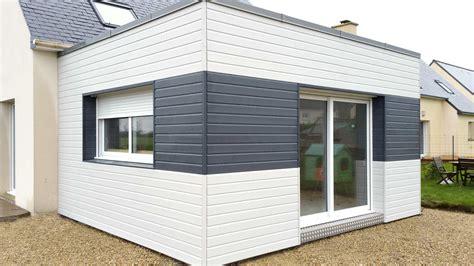 maison ossature bois toit plat prix extension maison bois prix m2 exemple de r 233 alisations abbc