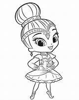 Shine Shimmer Coloring Pages Getdrawings sketch template