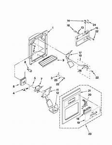 Dispenser Front Parts Diagram  U0026 Parts List For Model
