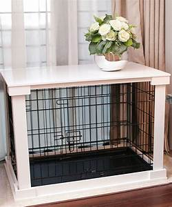 indoor dog crate wood pet kennel wooden side end table With white dog crate table