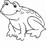 Coloring Pages Jumping Frog Clipart Advertisement sketch template