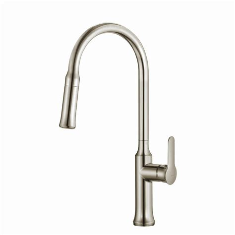 kraus stainless steel pull down faucet pull down