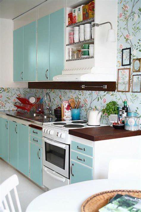 tapisserie de cuisine moderne le papier peint en 52 photos pleines d 39 idées