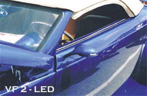 street rod parts rear view mirror led oval custom side