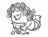Cupido Para Colorear Dibujo Con Cupid Coloring Dibujos San Rizos Curls Coloringcrew sketch template