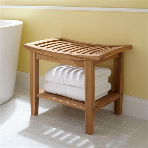 Elok Teak Shower Seat  Shower Seats Bathroom