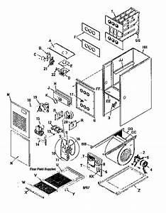 Arcoaire Model Guj050n12c2 Furnace  Heater  Gas Genuine Parts