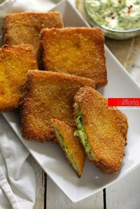 giallo zafferano mozzarella in carrozza zucchine cremose in carrozza finger food cucinare