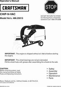 Craftsman 48625013 User Manual Chip N Vac Manuals And