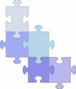 Puzzle 6 Pieces Blue Clip Art at Clker.com - vector clip ...