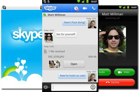 skype app android updated skype app brings calling to android