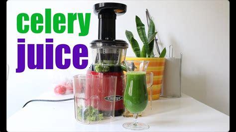 celery juice juicer omega recipe slow