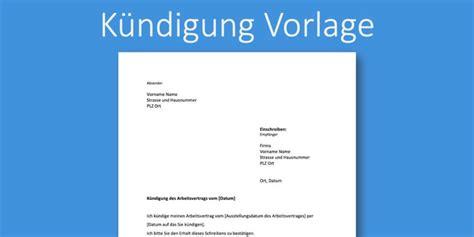 Die wichtigsten fragen und antworten kündigung schreiben: Kündigung Arbeitsstelle Vorlage | gratis Word-Vorlage | Vorla.ch