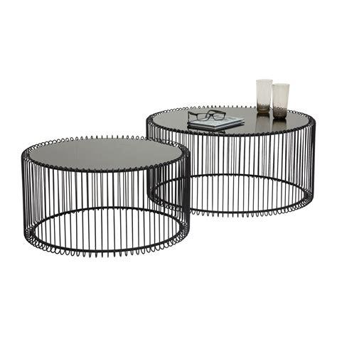 pour fauteuil de bureau table basse contemporaine wire kare design