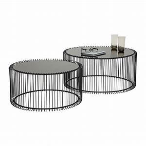 Kleine Couchtische Design : table basse contemporaine noire wire kare design ~ Michelbontemps.com Haus und Dekorationen