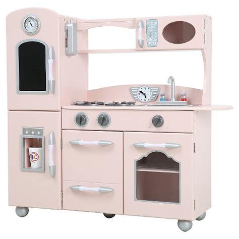 teamson kids retro wooden play kitchen pink target
