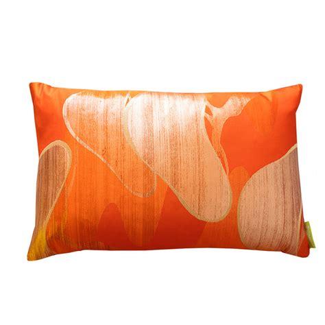 Orange Cusions by Orange Cushion Matsu Pine Vintage Upcycled Kimono Silk