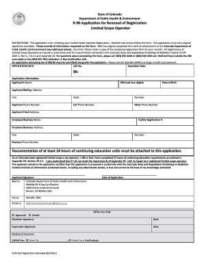 fillable online colorado r 90 application for registration