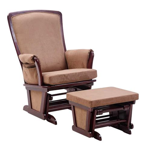 rocking chair and ottoman aliexpress com buy wood rocking chair glider and ottoman