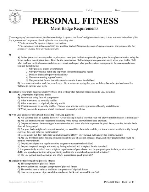 10 best images of family merit badge worksheet