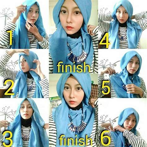 tutorial hijab segi empat layer ragam muslim