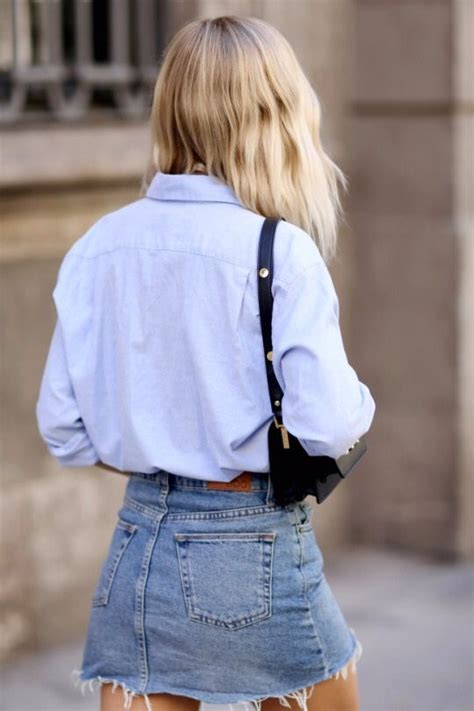 Best 25+ Denim mini skirt ideas on Pinterest | Outfits with jean skirt Felicia and Overalls