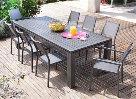 table chaises de jardin salon de jardin avec grande table promotion proloisirs