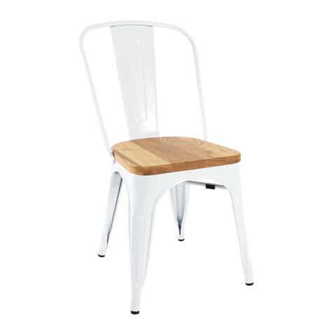 replica xavier pauchard wooden seat tolix chair