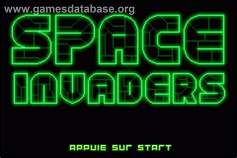 Space Invaders Nintendo Game Boy Advance Games Database