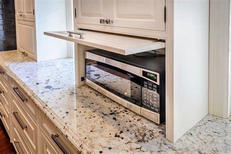 microwave cubby transitional kitchen leslie ann interior design