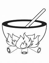 Cauldron Coloring Pages Halloween Clipart Cliparts Template Library Printable Clip Sheknows Printables Templates sketch template