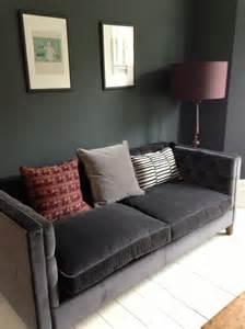 velour sofa grey velvet sofa