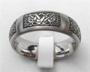 black titanium mens wedding bands celtic knot titanium ring for men online in the uk