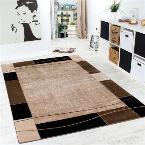 teppich wohnzimmer designer teppich wohnzimmer teppich modern bordüre in braun beige preishammer wohn und