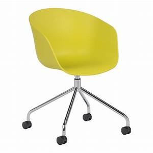 Chaise à Roulettes : chaise roulettes y h m tallis e sklum france ~ Melissatoandfro.com Idées de Décoration