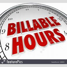 Billable Hours Time Keeping Clock Words Background Stock Illustration I3903616 At Featurepics