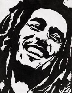 famous people Stencil | Bob Marley Stencil by MexicanDrunk ...