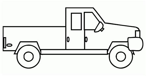 mewarnai gambar mobil truk bak terbuka contoh anak paud