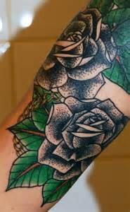 make up artist school arm school flower tattoo by stademonia tattoo