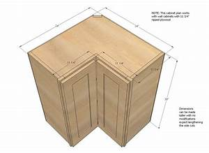 Ana White Wall Corner Pie Cut Kitchen Cabinet - DIY Projects