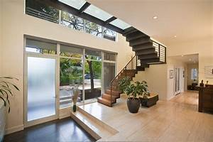 Modern Foyer Ideas Entry Contemporary With Steel Stair
