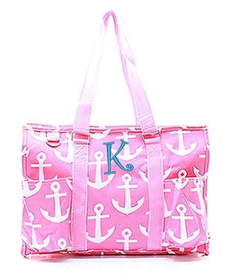 monogram personalized  large zip top organizing utility