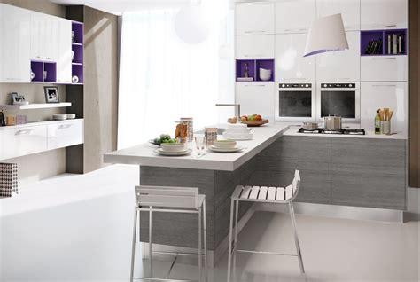 cuisine integree cuisine intégrée en bois avec barre collection martina by