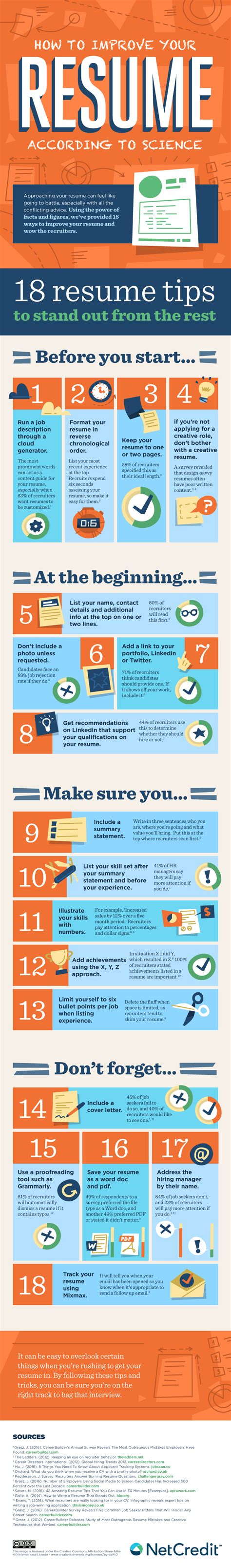 How To Improve Your Resume by How To Improve Your Resume According To Science