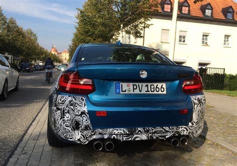 bmw germany bmw m2 spotted in germany wearing very little camouflage