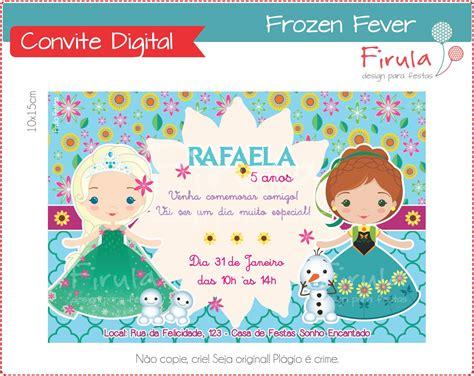 convite digital frozen fever firula festas elo