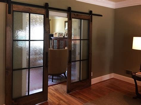 river song rain glass barn door