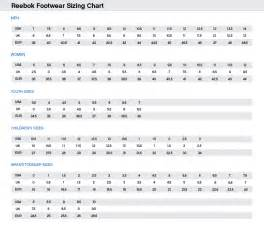 Reebok Shoe Size Chart